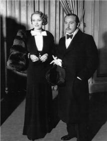 Marlene Dietrich and Joseph von Sternberg