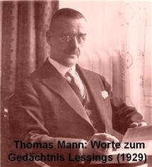 Thomas Mann: Worte zum Gedächtnis Lessings