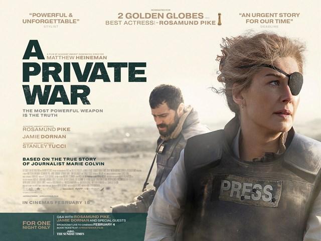 A PRIVATE WAR - Ne postoje stari, a odvažni...